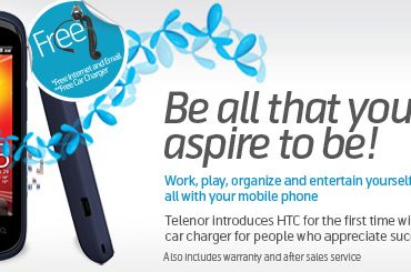 Telenor Launches HTC Phones With Free Mobile Internet