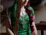 Bridal Mehndi Dresses 2014