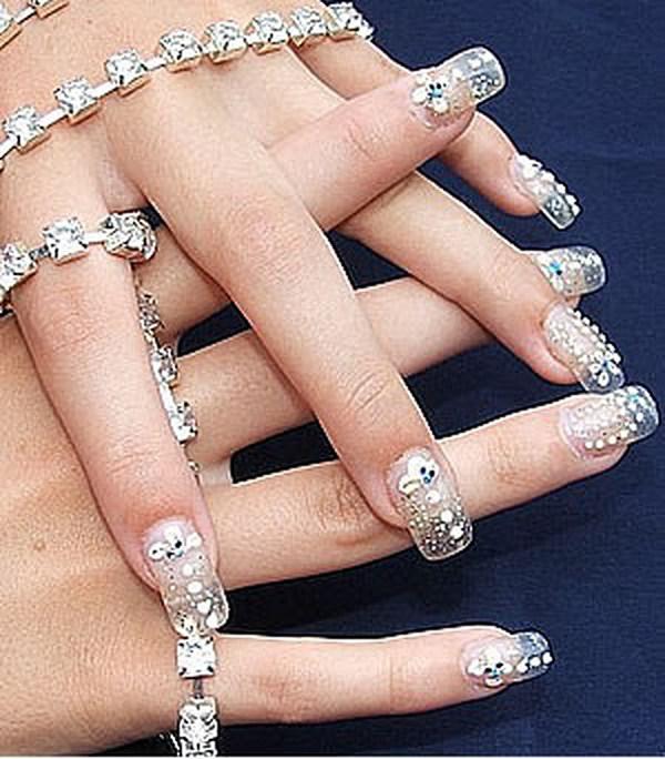 Wedding Nail Art: Bridal Nail Art Designs 006