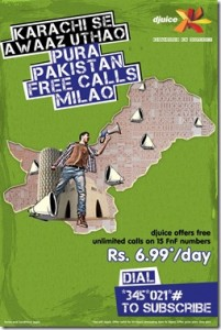 Djuice Karachi Offer: Free Calling on FnF Numbers