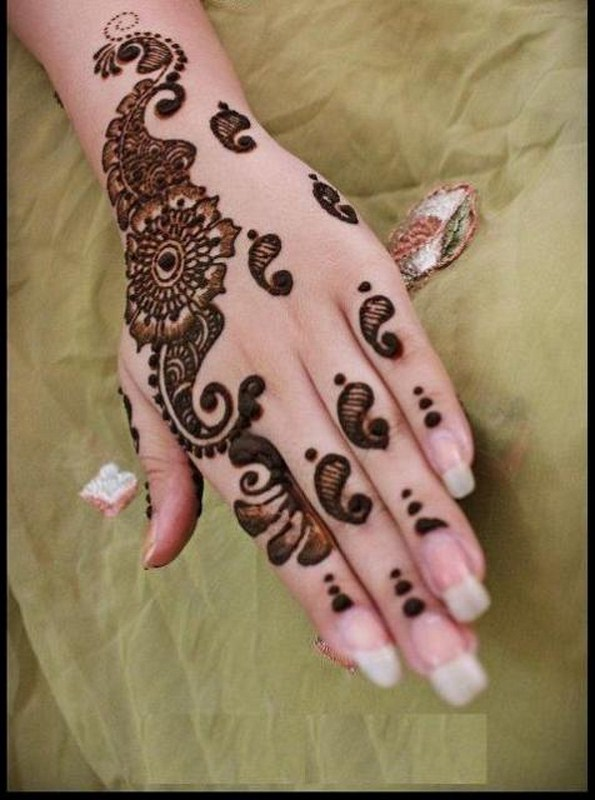 Mehndi Designs For Hands Eid : Eid mehndi designs for hands