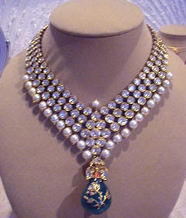 New Necklace Earring Set Gold Polki Jewellery Indian: Kundan Jewellery Designs With Price In Pakistan