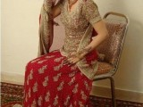 maroon pakistani wedding dresses