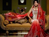 red and white pakistani wedding dresses