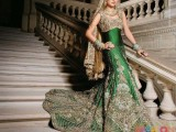 green pakistani wedding dresses