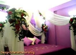 Pakistani Wedding Bedroom Decoration Photograph Bridal Bed