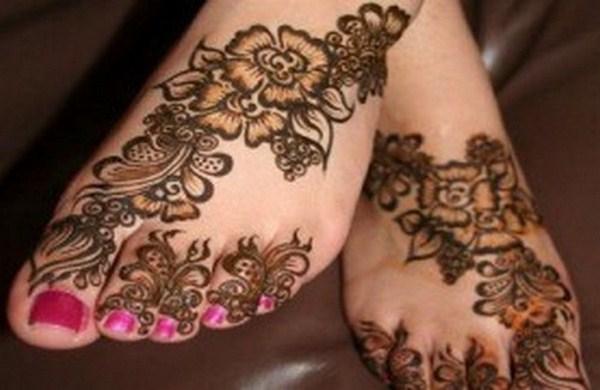 Mehndi Design Kaki : Mehndi designs for feet