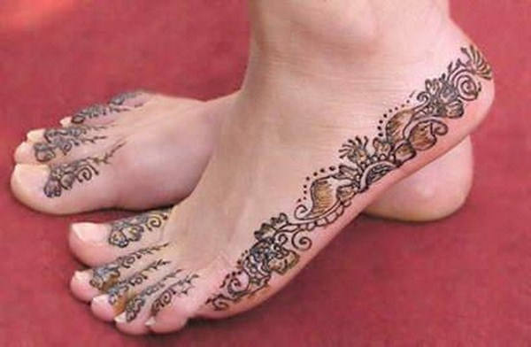 Mehndi Feet Photo : Mehndi designs for feet