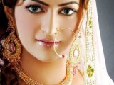 nose ring bridal make up