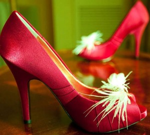 Red Wedding Bridal shoes