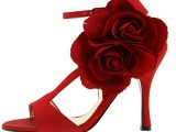 Red Wedding Bridal shoes 002