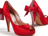 Red Wedding Bridal shoes 004