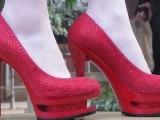 Red Wedding Bridal shoes 006