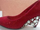 Red Wedding Bridal shoes 007