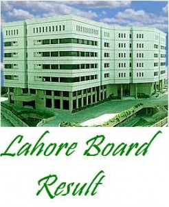 BISE Lahore Board 9th Class Result 2014