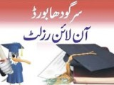 BISE Sargodha Board Inter Part 2 Result 2013