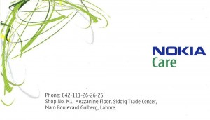Nokia Customer Care Centers In Pakistan
