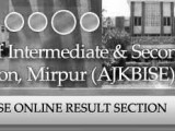 BISE AJK Board Inter Part 2 Result 2012 Will announced On 5 Sept