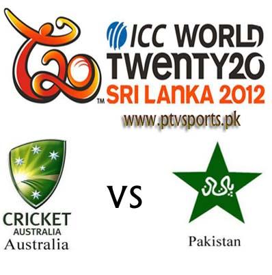 Pakistan vs Australia T20 Live Scorecard Super 8 World Cup 2012