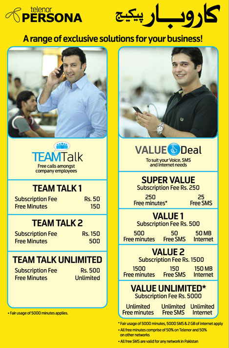 Telenor Postpaid Packages 1
