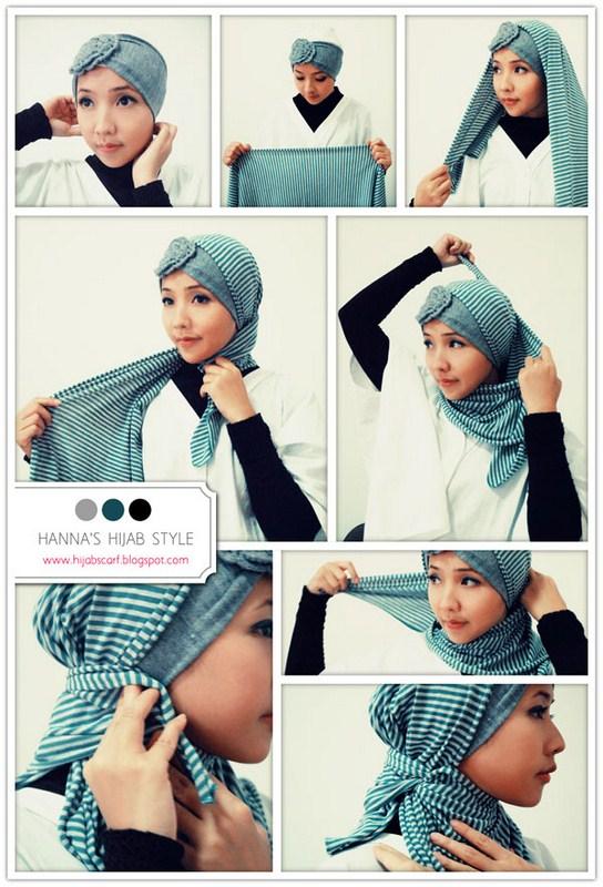 How To Wear Hijab Head Scarf 001