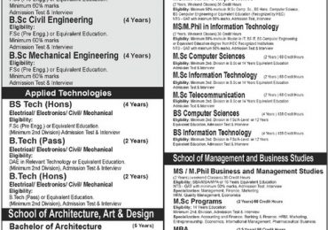 Imperial College of Business Studies Admission 2013