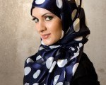 hijab styles for round face shapes