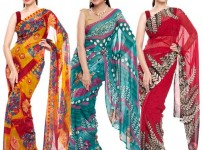 Latest Saree Designs 2013 For Girls 001
