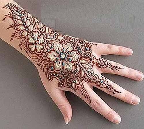 Mehndi Designs For Back Hand Side
