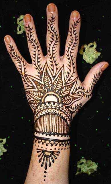Mehndi Patterns For Back Of Hands : Mehndi designs for back hand side
