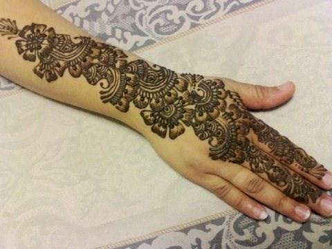Mehndi Bridal Back Side : Mehndi design for back of hand new orange