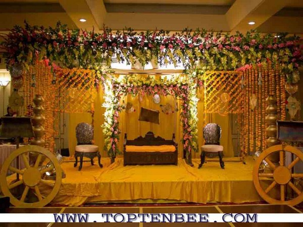 Mehndi function decoration ideas at home for Baby shower function decoration