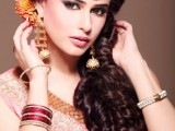 Pakistani Bridal Hairstyles Medium Length 2013 001