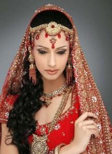 Pakistani Bridal Hairstyles Medium Length 2015