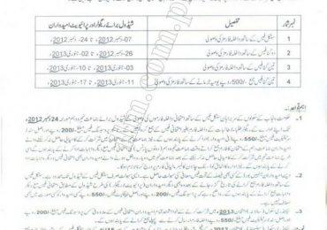 BISE Lahore Matric Exams Schedule 2013
