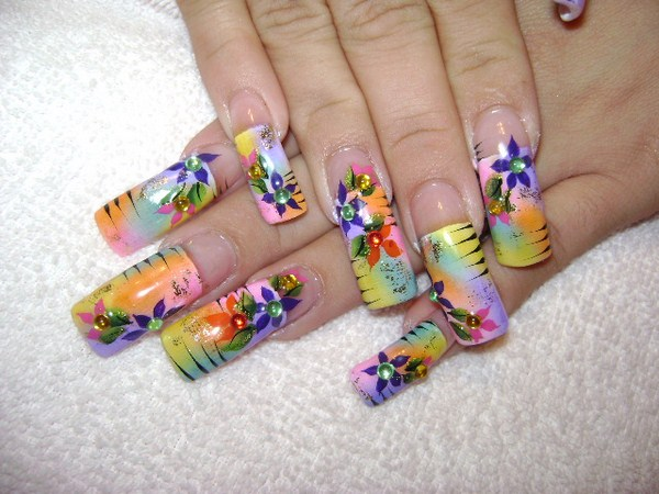 Colorful Nail Designs Acrylic Nails Tumblr Colorful Nail Designs Nail