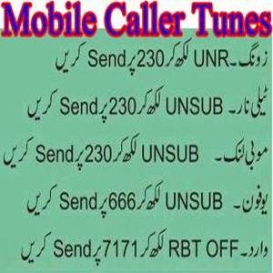 How To Unsubscribe/ Remove Caller Tunes From Jazz, Ufone, Warid, Telenor, Zong