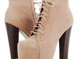 high heel boots with laces