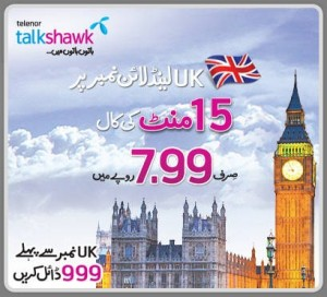 Telenor Offers Call Rates for UK