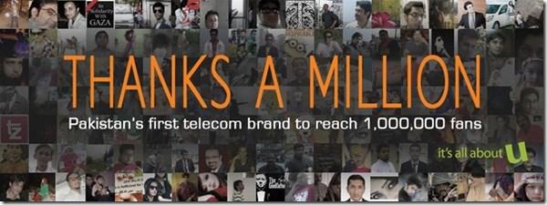Ufone Crosses 1 Million Fans on Facebook 001