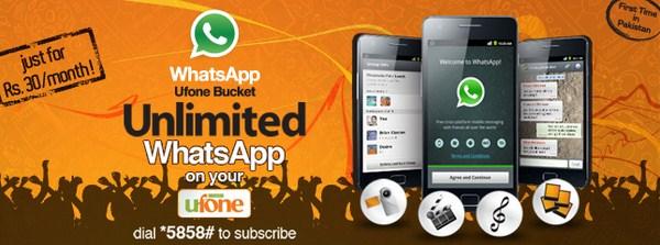 Ufone Offers Unlimited WhatsApp Bucket 001
