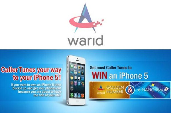 Warid Offers To Win Iphone 5, Golden Number And Nano SIM 001
