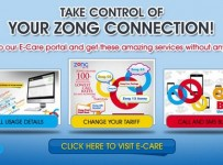 Zong E-Care Registration And Manage Prepaid Numbers 001