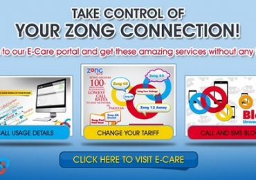Zong E-Care Registration And Manage Prepaid Numbers