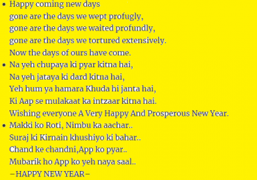 Happy New Year 2019 SMS in Urdu Messages Poetry Quotes