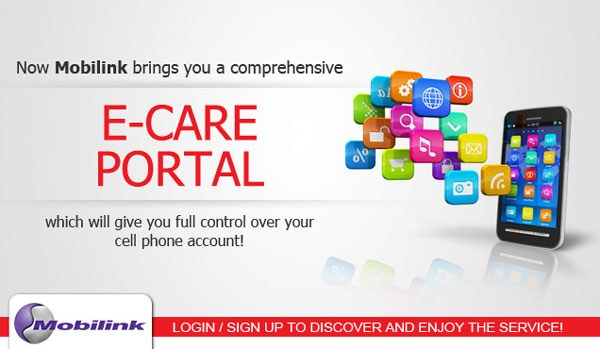 Mobilink e-care portal for Jazz and Jazba prepaid customers 001
