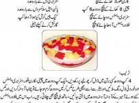 Pakistani Fruit Custard Recipe In Urdu 001
