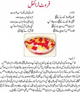 Pakistani Fruit Custard Recipe In Urdu