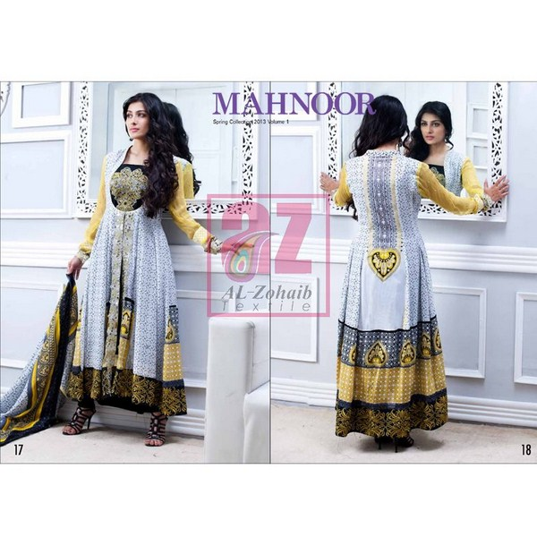Al zohaib mahnoor spring summer lawn collection 2013 for women 007