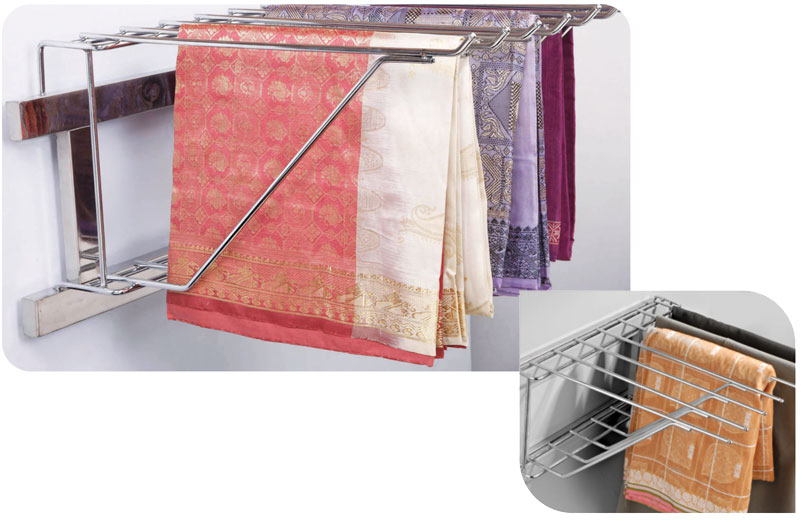 How To Arrange Saree In Wardrobe